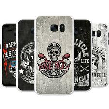 Motor Club Biker Motorbike Rider Skulls Hard Case Phone Cover for Samsung Phones
