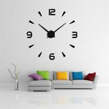 Modern Large 3D DIY Mirror Surface Art Wall Clock Sticker Home/Office/Room Decor