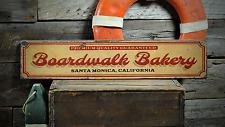 Boardwalk Bakery, Custom Beach Location - Rustic Distressed Wood Sign ENS1001345