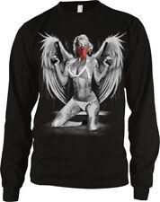 Marilyn Angel Wings Sexy Tattoos Guns Bandana Sex Symbol Long Sleeve Thermal