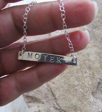 Motek Bracelet Handstamped Sterling Silver Bar Hebrew Word for Sweetie and Cutie