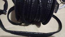 1 m de passepoil  faux cuir ou skai col noir 15 mm  / 1.5 cm de largeur