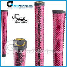 Iguana Golf Snake Skin Leather Pistol Putter Grip - Purple / Black + Tape
