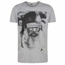 Diesel rasage t shirt gris col ras du cou bnwt tailles s m l xl xxl coton summer tee