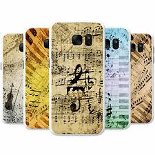Vintage Grunge Music Notes Snap-on Hard Back Case Phone Cover for Samsung Phones