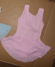 NWT SANSHA 9509 GIRLS DANCE DRESS SKIRTED LEOTARD PINK TANK STYLE PRINCESS SEAMS