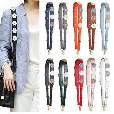 Designer Tote Handbag Purse Strap Replacement Flower Rivet  Satchel Wallet Belts