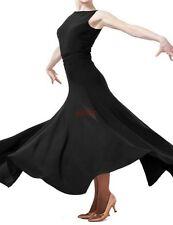 Sleeveless Backless Slim Flamenco Ballroom Dance Dress Modern tango Waltz Skirt