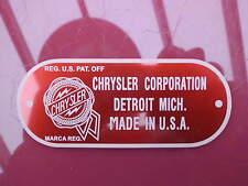 Typenschild chrysler de SOTO Dodge Fargo plate Schild badge