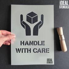 HANDLE WITH CARE Stencil riutilizzabile VERNICE SPRAY imballaggio scatole