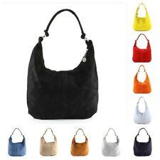 Hobo Bag Handtasche Wildleder Shopper Schultertasche viele Farben