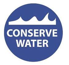 Conserve Water Hard Hat Decal Hardhat Sticker Helmet Label H240