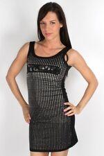 Parasuco Black Ladies Silver Crystals Sleeveless Mini Dress 8LIANAL $156 CAD NWT