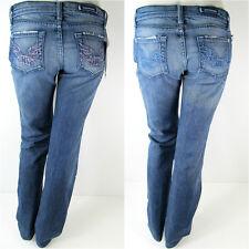 Rock&Republic Denim Jeans Roth Chroma Blue Pink Straight Leg Hose Neu 27