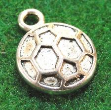 10Pcs. Tibetan Silver Soccerball Ball Charms Pendants Earring Drops Sp25