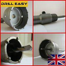 30-120mm carbure de mur hammer drill bit trou coupeur scie + sds max arbre tige M22