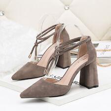 decolte 8 cm eleganti grigio tacco quadrato  sandali simil pelle 9906