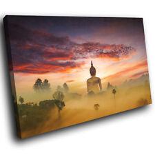 SC979 géant Statue de Bouddha Dusk paysage Toile Art Photos Grand Imprime