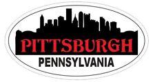 Pittsburgh Pennsylvania Oval Bumper Sticker or Helmet Sticker D3764