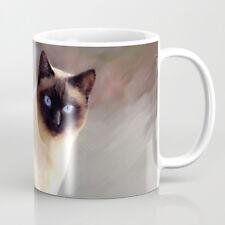 Coffee Mug Cup 11oz or 15oz Made in USA Cat 613 siamese brown art L.Dumas