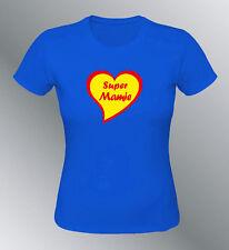 Tee shirt personnalisé SUPER MAMIE fete des grand mères anniversaire superwoman