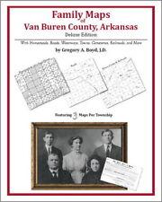 Family Maps Van Buren County Arkansas Genealogy AR Plat