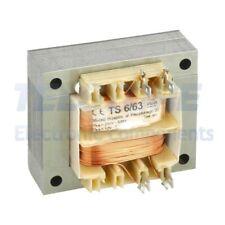1pcs TS6/63 Trasformatore di rete 6VA 230VAC 12V 0,5A Usc a maglia IP00 INDEL