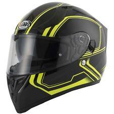 VCAN V128 Tracer Motorrad Integral Sonnenblende belüftet leicht Helm - Neon