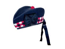 Regimiento escocés Glengarry tradicional sombrero/gorra Escocia Rojo/Blanco/Negro Nuevo