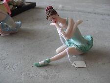 Unique Resin Ballerina in Green Figurine LOOK