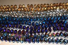Rondelle À Facettes Métal Perles tailles 10mm, 8mm, 6mm, 4mm