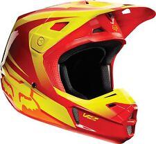 2015 Fox V2 Helmet Imperial Red/Yellow