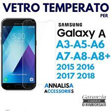 PELLICOLA VETRO TEMPERATO SAMSUNG GALAXY A3/A5/A6/A7/A8/PLUS 2015 2016 2017 2018