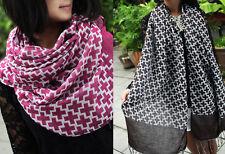 Mens Womens Warm Fashion Cross Scarves Tassel Fringe Long Scarf Shawl Wrap M67