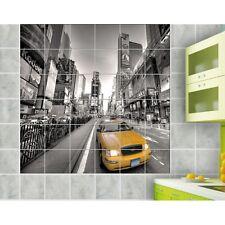 Sticker carrelage mural déco New York Taxi 834
