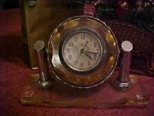 CHELIABINSKY RUSSIA MILITARY BOARD LUCITE DESK TABLE CLOCK