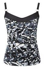 Panache SW0611 Swimwear Tao Tankini Top Slate / Multi coloured
