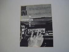 advertising Pubblicità 1963 VOXSON EXPLORER 811-P