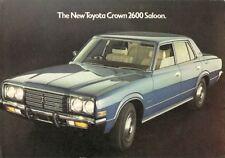 Toyota Crown 2600 Saloon 1975-76 UK Market Foldout Sales Brochure