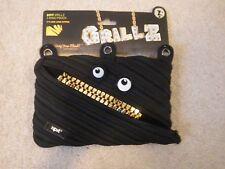 Grillz ZipIt JUMBO 3 Ring Pouch - Pencil case, makeup case (NEW)