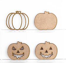 In legno MDF Zucche di Halloween Decorazione 3mm spessore Etichetta da regalo TAGLIO LASER IN BIANCO