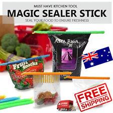 Kitchen Food Storage Stick Rod Bag Sealer Food Clips Zip Lock Pack of 8 Pieces