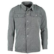Genuine Swiss army work jacket denim military jacket grey vintage surplus