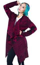 Iron Fist My Christmas Drape Sweater Plum Skulls Xmas Holiday Womens Xs-Xxl