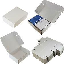 "WHITE BOXES C4 A4 SHIPPING DOCUMENTS CAKES ☆ 30cm x 23cm x 10cm ☆ 12"" x 9"" x 4"""