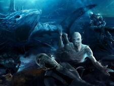 Sea Monsters Underwater Scary Mermaid Painting Huge Giant Print POSTER Affiche