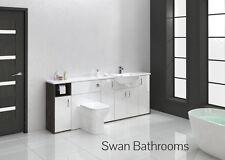 Mali WENGE / BIANCO LUCIDO BAGNO MONTATO Furniture 2100 mm