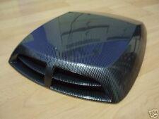 Air Flow Scoop Bonnet Vent Decorative Cover Intake Hood Racing Carbon Universal