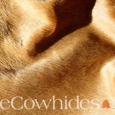 CowHide Rug Camel Brown Skin Leather Area Rug Hair on Hide SALE