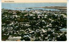 1920 Postcard Birds eye View of Honolulu Hawaii